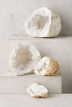 Calcite Geode Pair