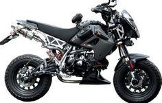 Customized Kawasaki KSR #motorcycles