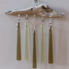 Fused Glass Wind Chimes by PattyMelts on Etsy
