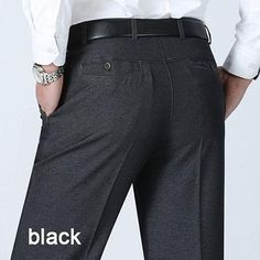 High Quality Fashion Summer Men Dress Pants Classic Business Plus Size Casual Straight Trousers Suit Pants Men Pantalon Hombre Stretch Dress Pants, Mens Dress Pants, Men Dress, Suit Pants, Business Formal, Business Men, Formal Pants, Formal Dress, Casual Pants