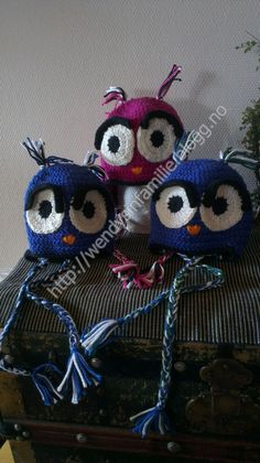 hekletuglelue owlbeanie crochet