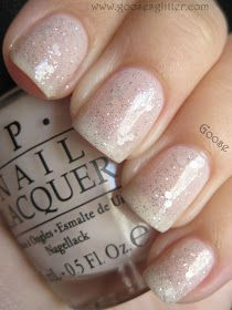 """OPI NY Ballet Collection: """"Piroutte My Whistle"""" over """"Care to Danse? Polygel Nails, Opi Nail Polish, Prom Nails, Cute Nails, Pretty Nails, Bridal Nails, Wedding Nails, Christmas Manicure, Xmas Nails"""