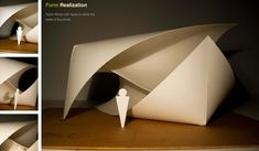The Concept Starting with basic folding and cutting paper, I tried to find the essential connection among paper, origami and geometry. I cut and folded hundreds of origami models. The idea just cam…