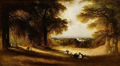 Landscape: View in Richmond Park John Martin A4 Poster, Poster Prints, Glasgow Museum, Art Fund, Richmond Park, John Martin, Park Art, Landscaping With Rocks, Victoria And Albert Museum