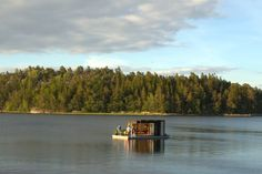 Modern Kenjo Cabin is a solar-powered floating room for a fami...