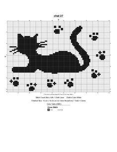 Funny Cross Stitch Patterns, Cat Cross Stitches, Cross Stitch Charts, Cross Stitch Designs, Cross Stitching, Cross Stitch Embroidery, Crochet Cross, Crochet Chart, Filet Crochet