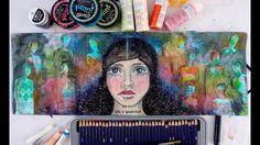 Art Journal Mixed Media Girl Painting