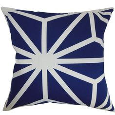 Dazu Sapphire Geometric Feather and Down Filled Throw Pillow   Overstock.com Shopping - Great Deals on PILLOW COLLECTION INC Throw Pillows
