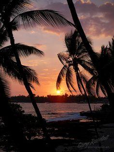 Gorgeous Sunset - Kona, Hawaii was so beautiful ... Wonderful wedding