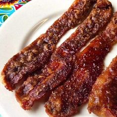 The Praline Bacon from Elizabeth's Restaurants is a must try when in New Orleans!