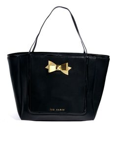 Ted Baker Meteen Crosshatch Leather Bow Shopper