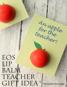 9 Kid-Friendly Gifts to Make for Teacher's Back to School: EOS Lip Balm Gift