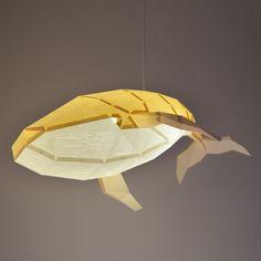 Humpback Whale Diy Pendant Paperlamp Kit In Sandy Beige by Owlpaperlamps Paper Art, Paper Crafts, Cut Paper, Fish Lamp, Origami Models, Simple Website, Humpback Whale, Origami Art, Paper Models