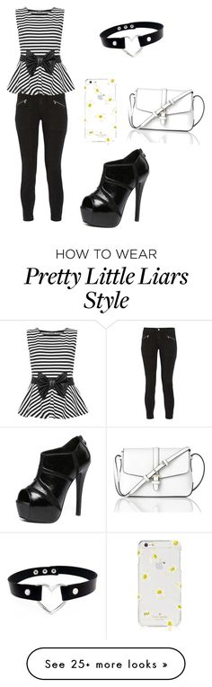 """""""Aria Montgomery pretty little liars"""" by alison-245 on Polyvore featuring J Brand, WearAll, WithChic, L.K.Bennett and Kate Spade"""