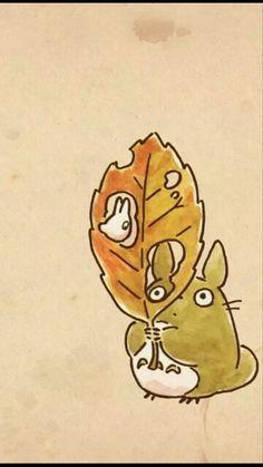 Little Totoro - Studio Ghibli Studio Ghibli Art, Studio Ghibli Movies, Hayao Miyazaki, Anime Chibi, Anime Art, My Neighbor Totoro, Illustration, Animation, Studios