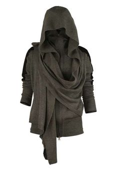 WANT THIS SO BAD !!!!! Hooded cloak w/ sleeves. So. Much. Want.