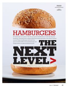 Hamburgers. The next level. Fotografie JASPER BOSMAN