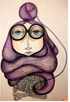 oldies by Anna Kontonikola (annicont), via Behance I will be this old lady, with purple hair!