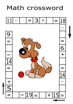 FREE Addition and subtraction math puzzles are a fun way for students to get extra math practice. Use this math riddle for kids. It is challenging and fun way to teach your child math. Teach your child math with fun. Kindergarten Math Worksheets, Maths Puzzles, Worksheets For Kids, Math Resources, Math Activities, Preschool Kindergarten, Math For Kids, Puzzles For Kids, Fun Math