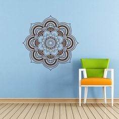 Mandala Wall Decal Namaste Flower Mandala Indian Lotus Yoga Wall Decals Vinyl Sticker Interior Home Decor Art Wall Decor Bedroom SV5924 on Etsy, $24.99