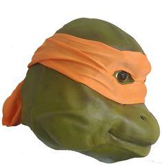 Michelangelo Teenage Mutant Ninja Turtle Movie Mask - Dragons Den Fancy Dress Limited
