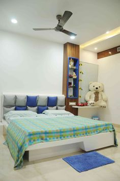Kids Bedroom with soft toys designed by Samanth gowda, Architect in hyderabad, Andhra Pradesh, India