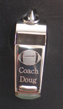 Personalized Gifts for your Coach. Choose from our selection of whistles, key chains and jewelry keepers - all at discounted prices.
