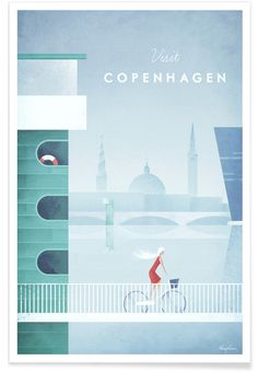 Copenhagen as Premium Poster by Henry Rivers | JUNIQE