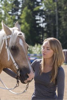 Amy working with a horse