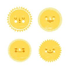 Sun faces (= Maybe I'll use shrinky dink and make a pin!