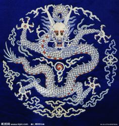 Traditional Chinese dragon design
