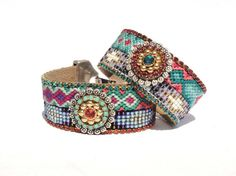 Native+American+beadwork+friendship+bracelet+cuff++by+OOAKjewelz,+€110.00