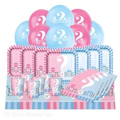 Our Essential party packs are a great starting pack containing all the basics for your buffet with a pack of balloons to add a bit of cheer. This package is for our pretty Gender Reveal party range. The Gender Reveal essential party pack is suitable for either a baby shower or a gender reveal party as it simply features the words Girl or Boy throughout with a mix of pretty pinks and blues.