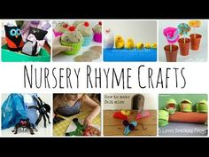 simple crafts to make for common nursery rhymes. build up a resource to create a reading tub for this Students can then create their own versions or read and follow instructions to make their own