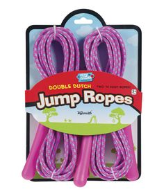 Loving this Double Dutch Jump Rope on #zulily! #zulilyfinds