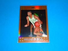 2007-08 Topps Chrome Bill Russell Orange Refractor /199 *CELTICS: Card is #6 (068/199).  All cards in NRMINT-MINT condition. Any questions feel free to ask.  FREE SHIPPING!!  All cards are put in a top loader and shipped in a bubble wrapper envelope!  Be sure and check my store on a regular basis to see what new items I have posted. THANK YOU!...