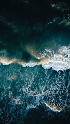 Download wallpaper 2160x3840 ocean, surf, foam, waves samsung galaxy s4, s5, note, sony xperia z, z1, z2, z3, htc one, lenovo vibe hd background