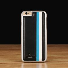 Slate Stripes exclusively for the iPhone 6(s) / 6(s) Plus.   Premium genuine leather Matching poly carbonate shell. Open access to all ports and buttons. Tailor made to order with your choice of leather Free personalization in gold or silver stamping. Requires 10 business days production lead time.