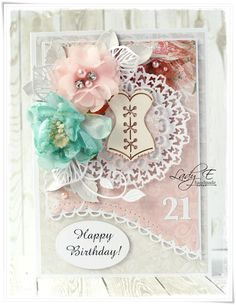 Scrap Art by Lady E: 21st Birthday Cards for the magazine / Kartki na 21 Urodziny dle gazety