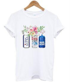 37dc2d2073967 Beer Flower T-shirt. teenamycs. Bud Light BeerCoors ...