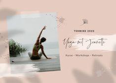 Yoga mit Jeanette – Yogakalender 2020 – Kurse, Workshops & Retreats Mat Yoga, Workshop, Movie Posters, Movies, Design, 2016 Movies, Atelier, Film Poster, Films
