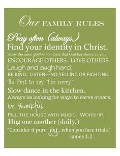 Free Printable by House of Hydrangeas: Family Rules by abbyy