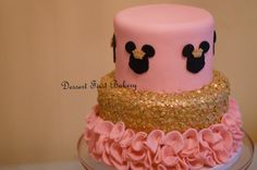 Minnie and Mickey Mouse Cake and Cupcake by DessertFirstBakery