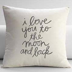 love you to the moon + back throw pillow cover from RedEnvelope.com