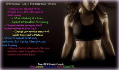 I offer Support to all your Fitness goals...=) http://www.facebook.com/CoachTL