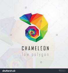 stock-vector-low-polygon-style-abstract-multicolored-chameleon-logo-element-geometric-triangular-lizard-design-288041561.jpg (1500×1600)