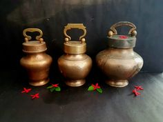 Koojas of yore Copper Vessel, Indian Home Decor, Traditional Kitchen, Mason Jar Lamp, Vintage Kitchen, Antique Brass, Vintage Art, Bronze, Rose Gold