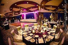 purple wedding venue