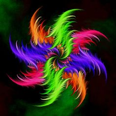 fractal feathers by trina Fractal Images, Fractal Art, World Of Color, Color Of Life, Rainbow Colors, Vibrant Colors, Fractal Design, Photoshop, Bunt