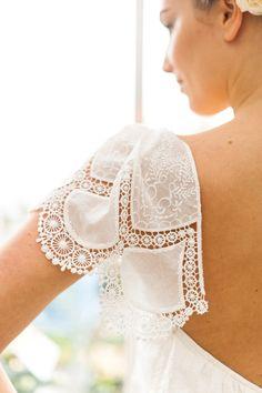 Lace detailing | Photography: Anushé Low - anushe.com  Read More: http://www.stylemepretty.com/destination-weddings/2014/04/23/botanical-wedding-inspiration/